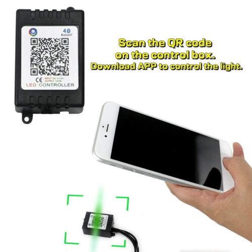 Car Auto RGB LED Strip Underbody Under Glow Neon Light Kit 90//120cm App Control