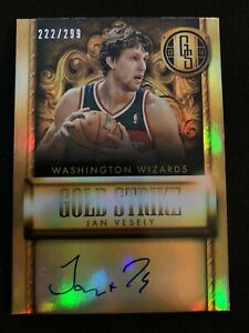 JAN-VESELY-2013-14-Gold-Standard-Holo-Auto-222-299-SP-Wizards-Fenerbahce