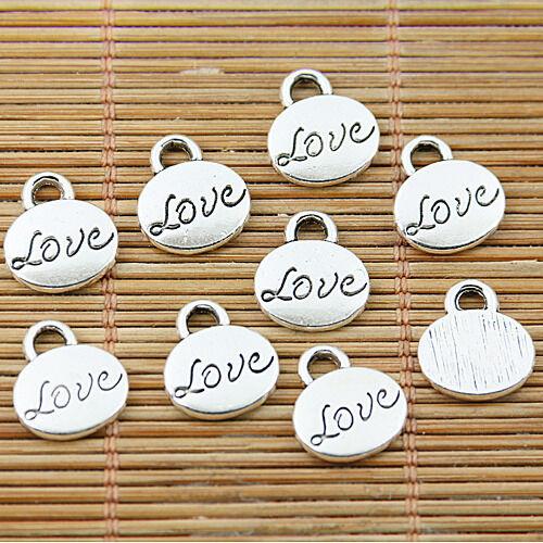 20pcs Tibetan Silver Tone Love Charms EF1545