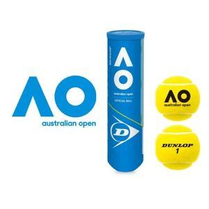 Dunlop Australian Open Balle De Tennis 3 X 4er Doses 12 Balles-afficher Le Titre D'origine