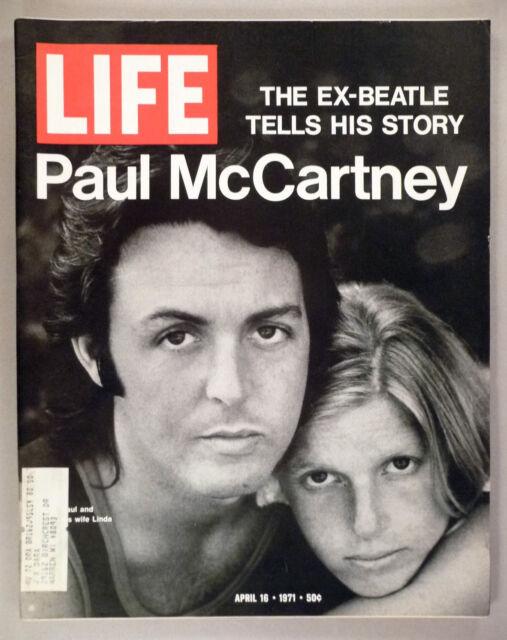 Life Magazine - April 16, 1971 ~ Paul McCartney's story ~ Beatles ~ nice cond.