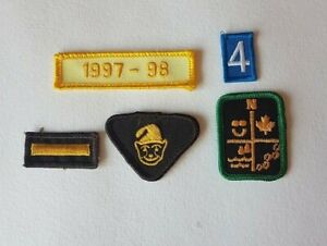 Girl-Guides-Scouts-Of-Canada-Vintage-Patches-Badge-Brownie-Bar-1997-Lot-of-5