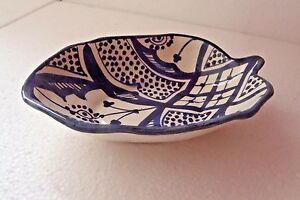 HAND-PAINTED-CERAMIC-HORS-D-039-OEUVRE-DISHES-MOROCCAN-POTTERY