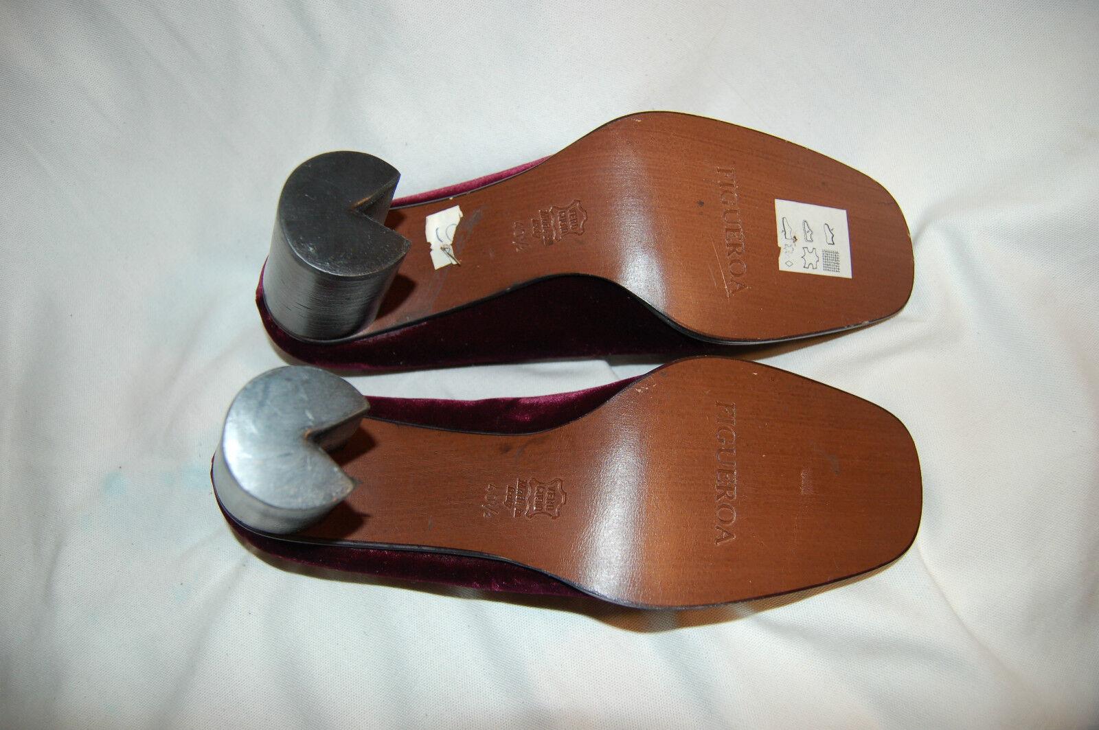 NWOB Figueroa Burgundy Burgundy Burgundy Velvet Heels shoes Size  40 1 2 US 91 2 bc9828