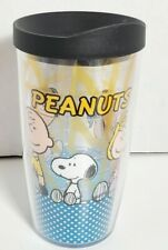 Charlie Brown Peanuts Kings Island Planet Snoopy Ltd Frosted Tumbler Glass Comic