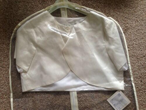 Girls cardigan Bolero 11-12Years Designer Little Darlings Ivory Silk Christening