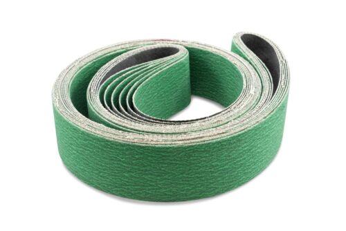 2 X 60 Inch 24 Grit Metal Grinding Zirconia Sanding Belts 6 Pack
