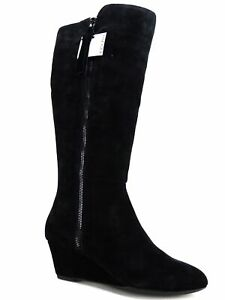 Alanna Wedge boots Black Suede Size
