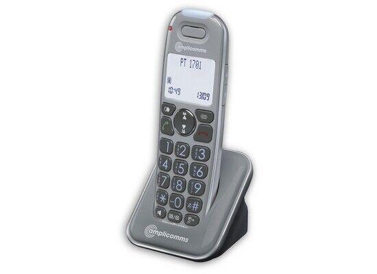 Amplicomms powertel 1701 grandes teclas terminal móvil + carga cáscara impecable