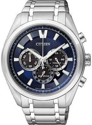 Citizen Eco-Drive Titanium Sapphire Japan Chrono Watch CA4010-58L CA4011-55L