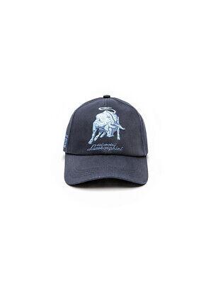 NWT AUTOMOBILI LAMBORGHINI CAP bull LXIII signature grey Auth Italy cotton