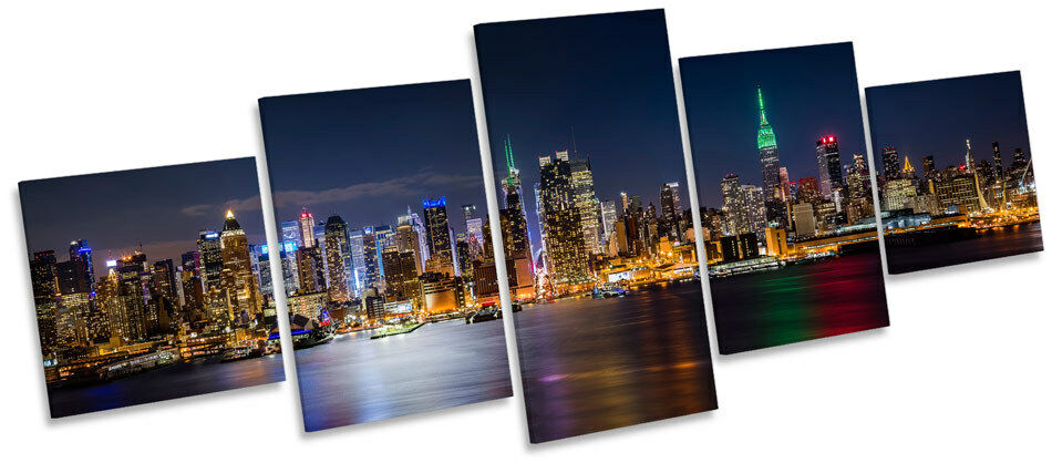 New York City Skyline Midtown MULTI CANVAS WALL ART Picture Box Frame