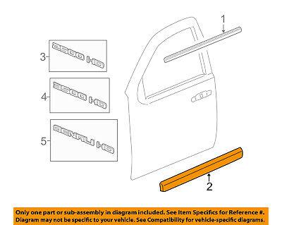 Front Chrome Genuine GM 15876405 Door Molding