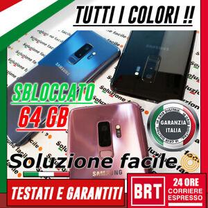 SMARTPHONE-SAMSUNG-GALAXY-S9-64GB-SM-G960U-12-MESI-GARANZIA-BRT-24H-G960-G960F