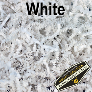 Mighty Gadget (R) 1 LB White Crinkle Cut Paper Shred Filler for Gift Wrapping