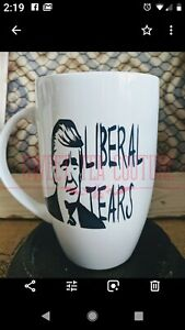 Donald Trump Liberal Tears Large Coffee Mug/Cup White Ceramic NEW