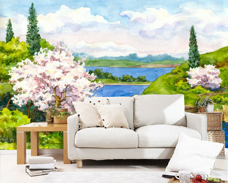 3D painting scenery pigment Wall Paper Print Decal Wall Deco Indoor wall Mural