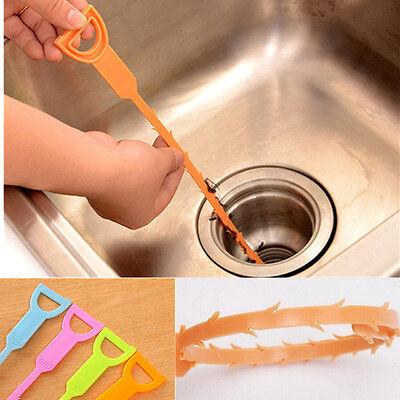 Desagüe limpiador Zuecos Kitchen Plástico Herramienta de Limpieza de Fontanería Lavabo limpia Gancho Il