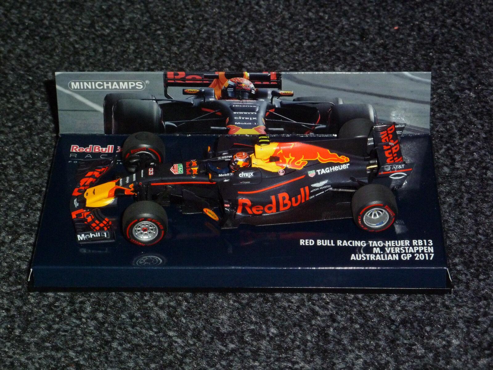 Minichamps 1 43 Max Verstappen rosso Bull Racing RB13 GP Australië Australia