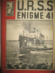 N-39-PAQUEBOT-WASHINGTON-LISBONNE-ReFUGIeS-URSS-Mal-TIMOCHENKO-7-JOURS-1941