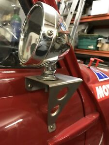 Classis-Mini-Race-Style-Mirror-mount-brackets-Trackday-Satin-Finished-Stainless