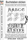 PADP-Script 001: Buchstaben sticken (2015, Taschenbuch)