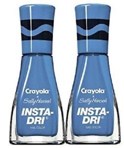 Details About 2ct Crayola Sally Hansen Insta Dri Nail Color Polish 507 Cerulean Blue