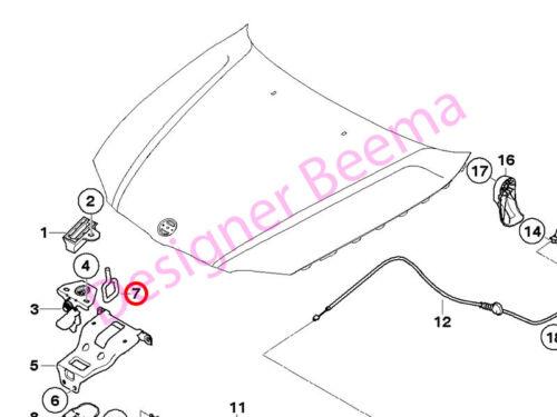 BMW Mini 1 3 5 6 Série R55 R56 R57 R58 R59 R60 R61 BONNET catch Support JS