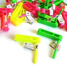 12 x MINI RATTLE CLACKER MUSIC TOY LOOT GIRLS BOYS BIRTHDAY PARTY BAG FILLERS