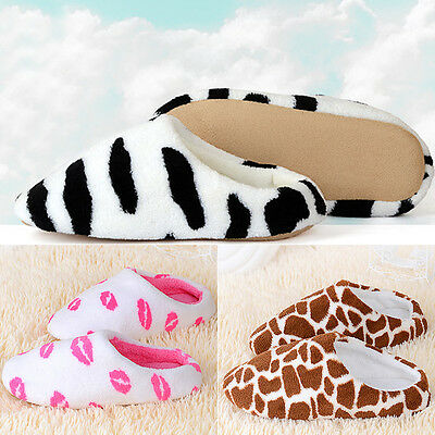 New Men Women Soft Warm Indoor Slippers Cotton Sandal House Home Anti-slip Shoes