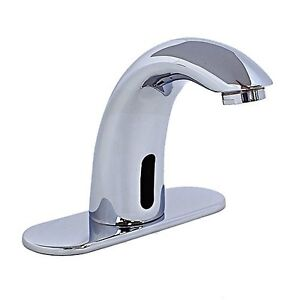 Hands free automatic sensor bathroom faucet chrome finish by cascada showers ebay for Automatic bathroom sink faucets