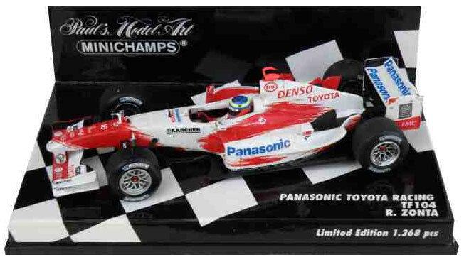 Minichamps Toyota F1 TF104 2004 - Ricardo Zonta 1 43 Scale