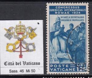 VATICANO-1935-Congresso-Giuridico-1-25-Lire-used-cv-90-light-cancel-super-cent