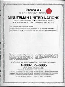Scott Minuteman UN Album Supplement #23 2013 181S013