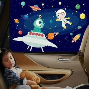 Car-Side-Rear-Window-Magnetic-Sun-Shade-Visor-Cover-Shield-Cartoon-For-Baby-Kids