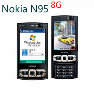 Quad Internal Nokia Unlocked Band About Wifi 8gb Details N95 Slider Memory Phone Original 5mp
