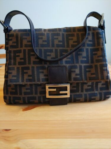 Auth FENDI Vintage Zucca Mama Forever Bag