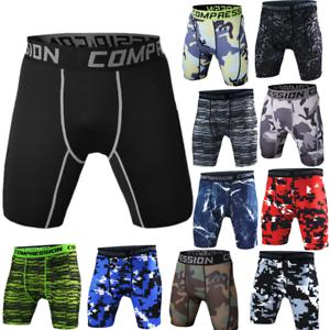Fashion-Sports-Apparel-Skin-Tights-Compression-Base-Men-039-s-Running-Gym-Shorts-Hot