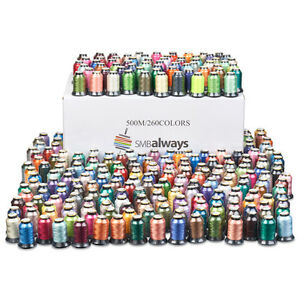 Polyester-Embroidery-Machine-Thread-Set-500m-each-Huge-Box-of-260-spools