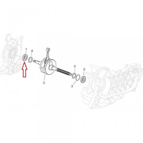 Roulement ou joint spi moteur origine Scooter Piaggio 125 Liberty 2001-2015 8254