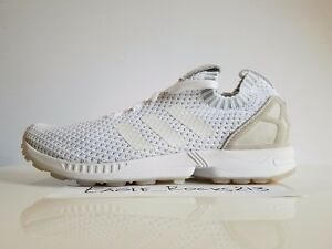the latest 32933 c70b5 Details about New ADIDAS Originals ZX Flux Primeknit PK Sneakers Running  Mens white sizes 10