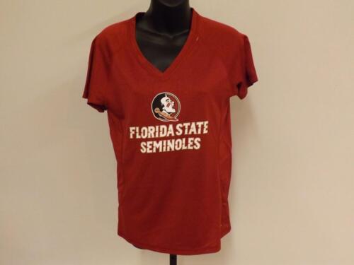 New FSU Florida State Seminoles Womens M Medium Majestic fitted Shirt 82TA