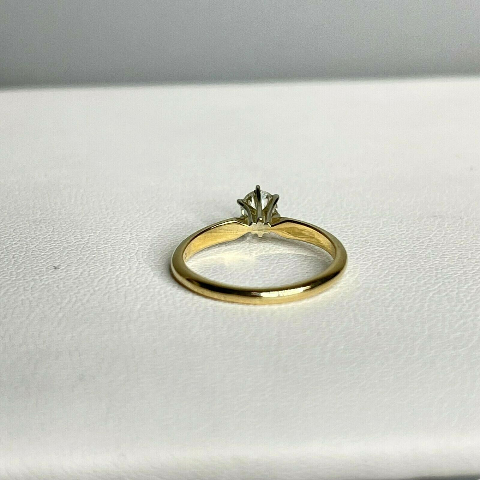 Vintage Signed DACO 14k Yellow Gold Diamond Solit… - image 6