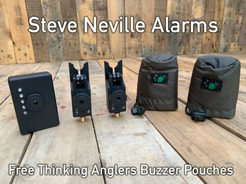 Steve-Neville-Mk3-Bite-Alarms-x-2-Receiver-FREE-TA-Original-Buzzer-Pouches