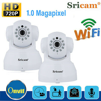 2X Sricam 720P Wireless WiFi Home Security CCTV IP Network Camera Webcam System