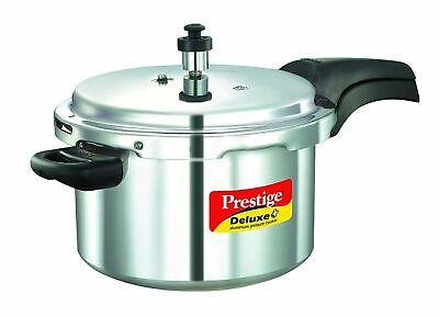 Prestige Deluxe Duo Plus Induction Base Aluminum Pressure Cooker,1.5Litres Black