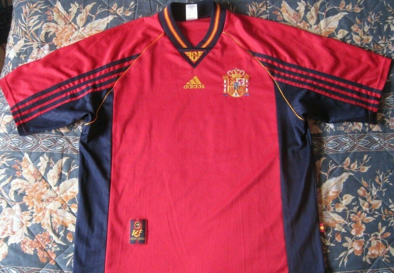 Camiseta Shirt Maglia Trikot SPAIN 1998 Adidas Vintage Size L