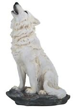"8"" Howling Wolf Nature Wildlife Animal Statue Collectible Wild Sculpture"