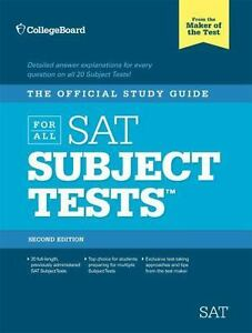 the official study guide for all sat subject tests by college board rh ebay com study guide maker online study guide maker app