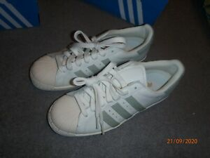 acceso Invitación hará  Adidas SUPERSTAR 80s womens trainers in white/green UK 6 EU 39 1/3 RRP: 100  GBP 4059319369298 | eBay